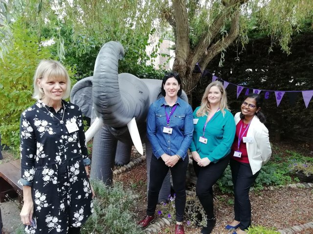 From left, Kim Hosier, Gemma Green, Eleanor Palmer and Asheta Jayapalam from Portsmouth Abuse and Rape Counselling Service (PARCS). Picture: David George