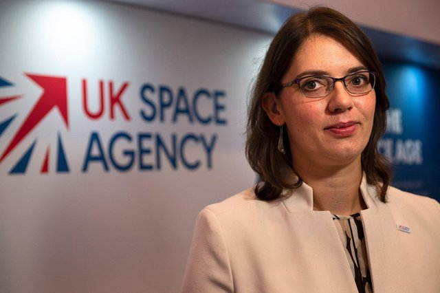 Emily Gravestock, head of applications at the UK Space Agency.
