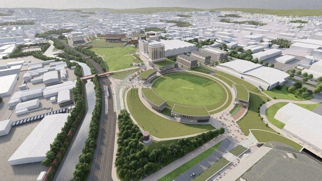 CGI of Sheffield Olympic Legacy Park.