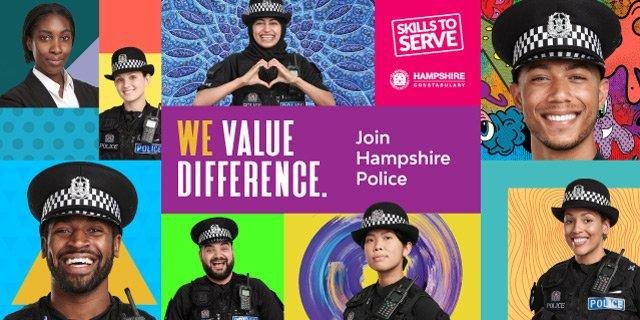 Hampshire police are using actors in a diversity recruitment bid. Picture: Hampshire police