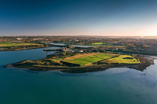 Tipner West which would be re-developed into a super peninsula for 4,000 homes. Picture: Hampshire and Isle of Wight Wildlife Trust