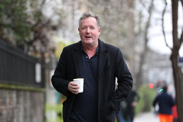 Piers Morgan returns to his home in Kensington, central London, the morning after it was announced by broadcaster ITV that he was leaving as a host of Good Morning Britain. Picture: Jonathan Brady/PA Wire