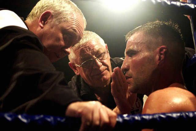 Frank Hopkins, middle, with Tony Oakey and Frank Maloney, 2003. Picture: Matt Scott-Joynt