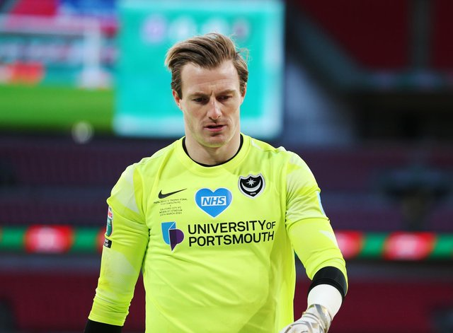 Craig MacGillivray looks dejected at the final whistle but will take comfort from the praise he has received from fans following his Wembley heroics.