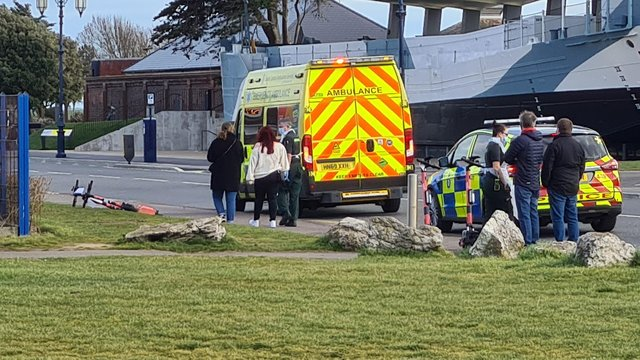 The incident took place earlier this afternoon. Picture: Trevor Goodman