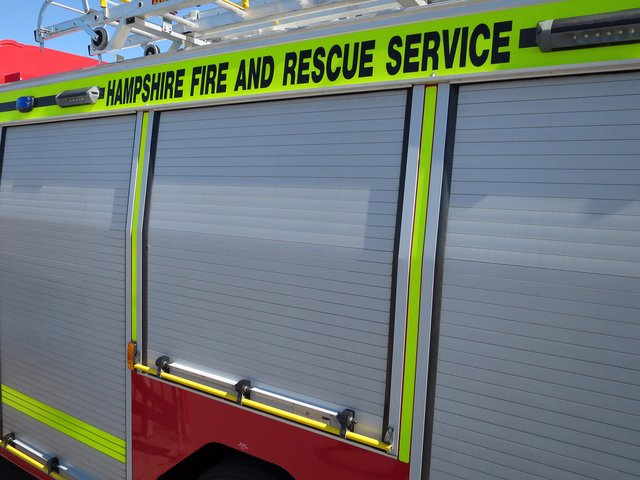 Firefighters were called to Leigh Park last night