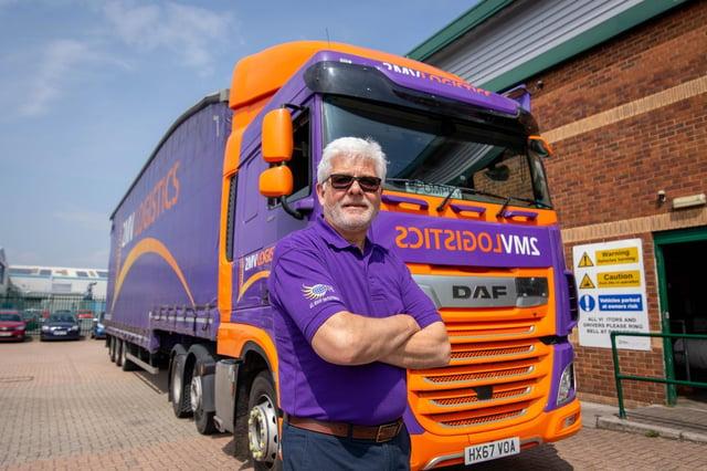 Jim Tyler, managing director of 2mv Logistics outside the company office in Drayton.  Picture: Habibur Rahman