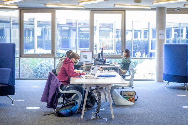University of Portsmouth library in Cambridge Road, Portsmouth, pictured in October 2020. Picture: Habibur Rahman