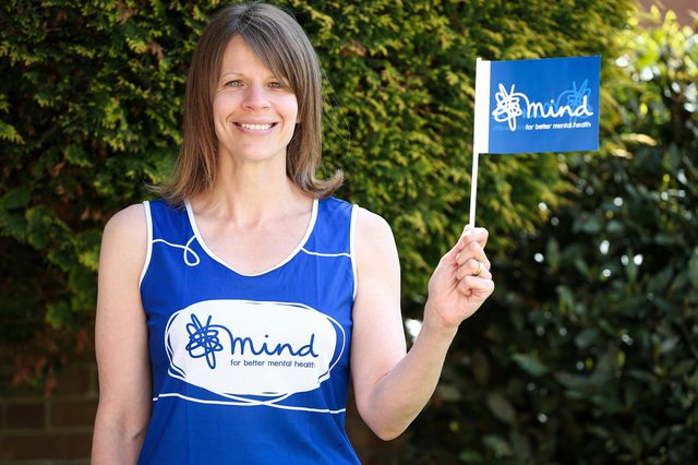 Simone Thompson will be running the London Marathon in October, in honour of her father, Steve Baker, who took his own life Picture: Chris Moorhouse (jpns 070521-18)