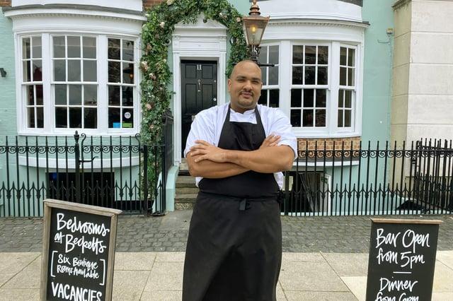Jack Sencherey-Evans, head chef at Becketts, Southsea.