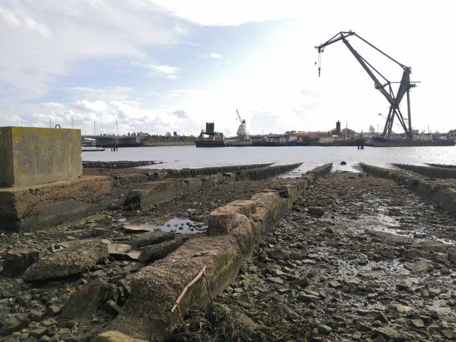 Volunteers are needed for a non-intrusive archaeological survey of the D-Day landing craft repair slipways on Horsea Island. Picture: Coastal and Intertidal Zone Archaeological Network (CITiZAN).