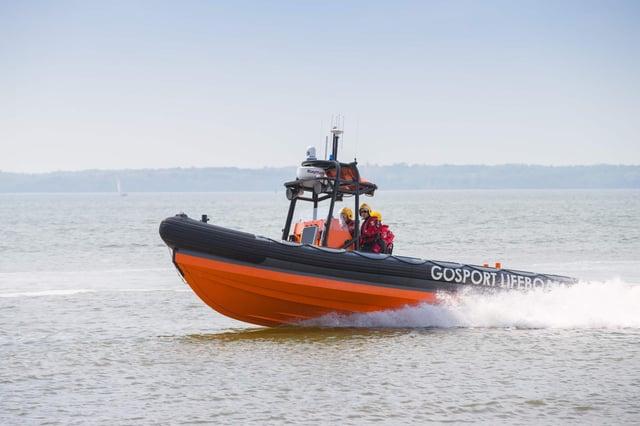 Gosport and Fareham Inshore Rescue Service crew on a previous rescue.
