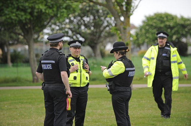 Police in Portsmouth. Picture: Ian Hargreaves  (310519-11)