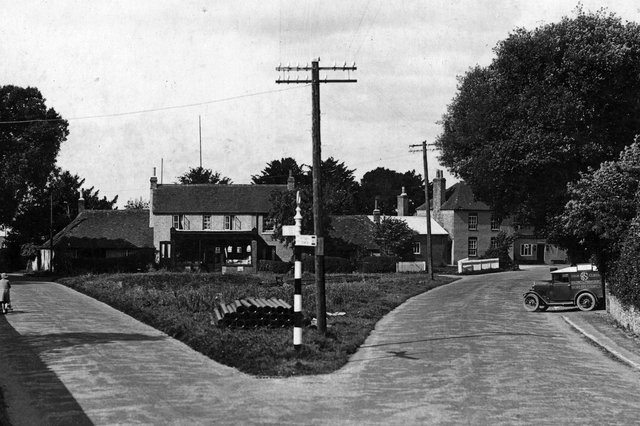 The Green at Denmead with a World Stores delivery van on the right. Picture: Paul Costen/costen.co.uk