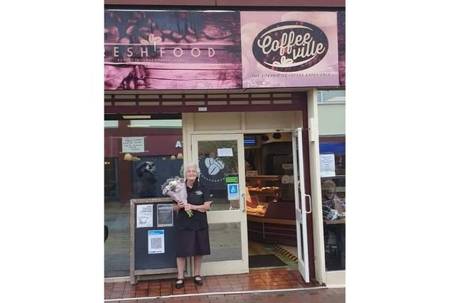 Frances Colley, 85, is retiring from Coffeeville in Waterlooville after 43 years serving behind the counter