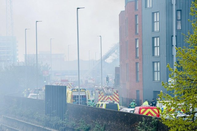 A fire has broken out in Goldsmith Avenue, Southsea, Portsmouth, on April 28. Picture: Chris Moorhouse