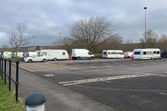 Travellers at Lakeside North Harbour in Portsmouth