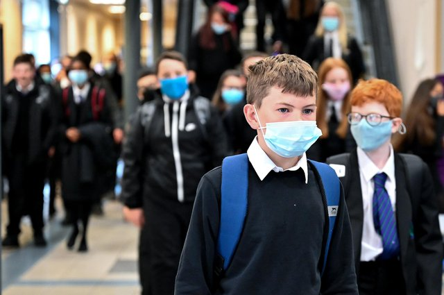 Stock image of pupils returning to school following the coronavirus pandemic (Photo by Jeff J Mitchell/Getty Images)