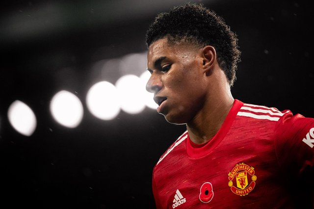 Marcus Rashford of Manchester United and England has been targeted by online trolls. Photo by Ash Donelon/Manchester United via Getty Images