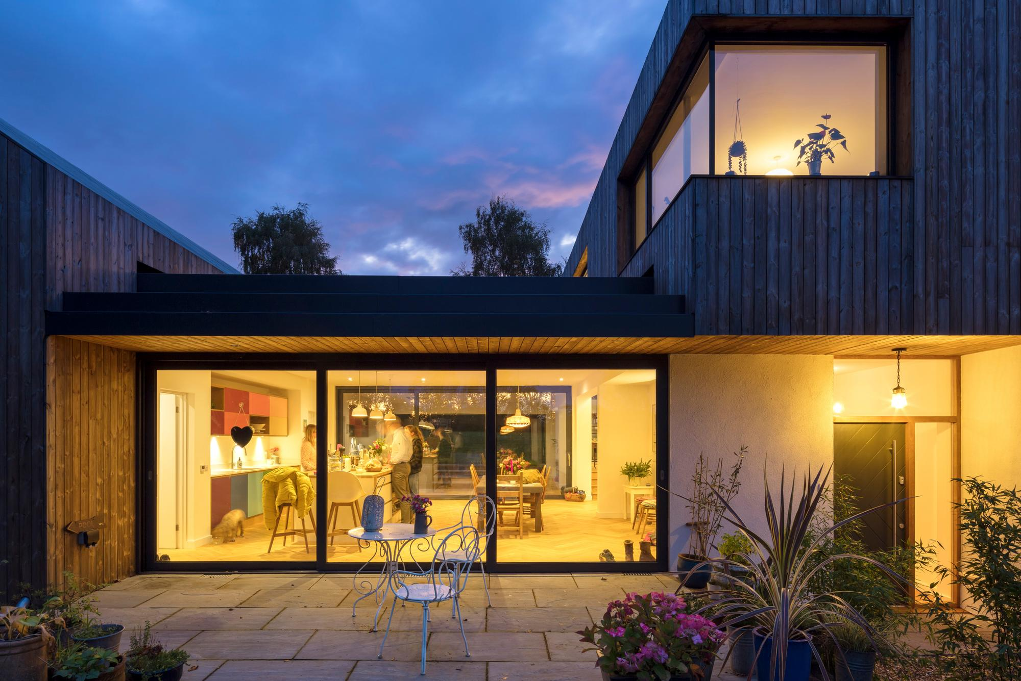 Look inside Hampshire artist's huge new 'sustainable' family home - built between two national parks