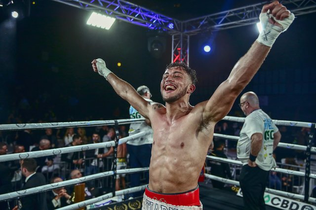 Michael Mckinson faces Chris Kongo for the WBO Global welterweight title in Gibraltar on Saturday. Picture: Scott Rawsthorne MTK Global