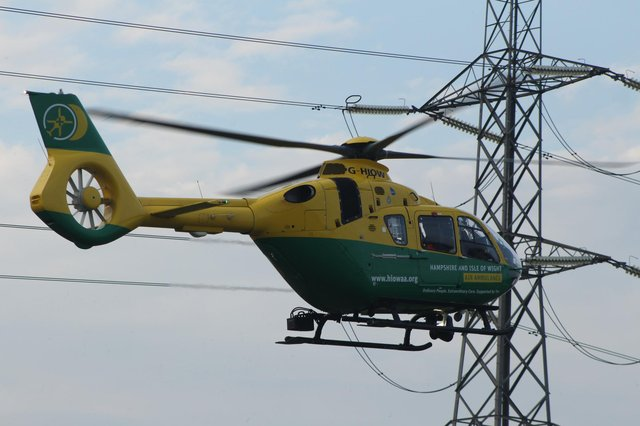 File photo of the Hampshire and Isle of Wight Air Ambulance taking off from a field in Waterlooville in September 2020. Picture: Adam Jenkins