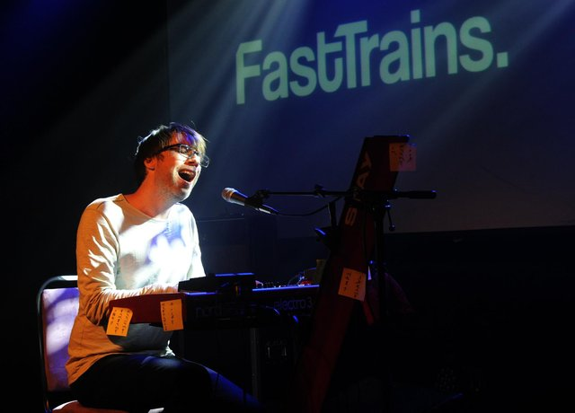 Tom Wells is Fast Trains, headlining at The Wedgewood Rooms, Southsea, July 15, 2021. Picture by Paul Windsor