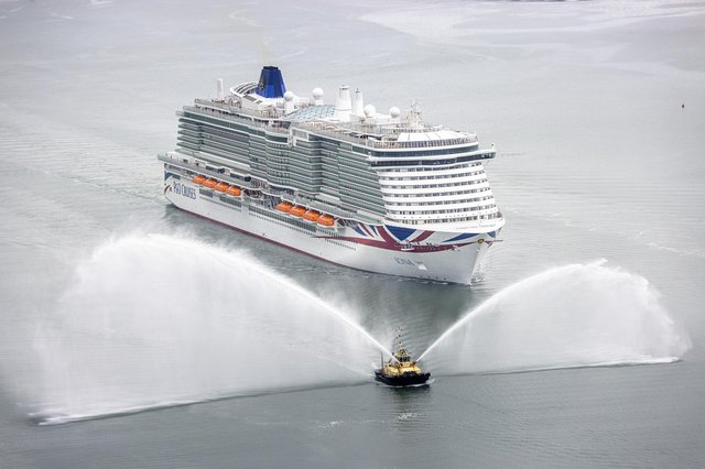 Handout photo issued by P&O of the cruise ship Iona arriving at her home port of Southampton ahead of her official naming ceremony. Picture date: Sunday May 16, 2021.Handout photo issued by P&O of the cruise ship Iona arriving at her home port of Southampton ahead of her official naming ceremony. Picture date: Sunday May 16, 2021.