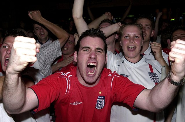 England football fans at Walkabout bar in Guildhall Walk - was this you?