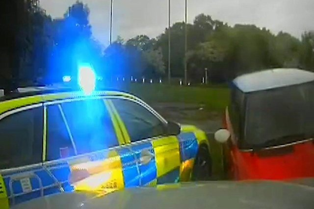 The driver of the red Mini, John Seymour, 34, of Manor Way, Lee-on-the-Solent was jailed at Southampton Crown Court.. Picture: CPS Wessex