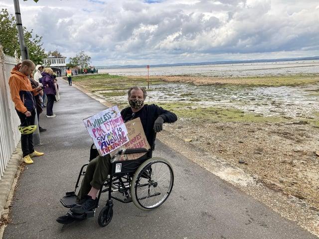 Aquind protester Steve Kinget