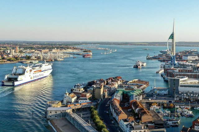Early morning arrival of the Mont St Michel into Portsmouth harbour taken by Mark Cox. What a nice perspective at Old Portsmouth also. Instagram: @markcox_sonya7iiiPortsmouth gv Portsmouth aerial gv