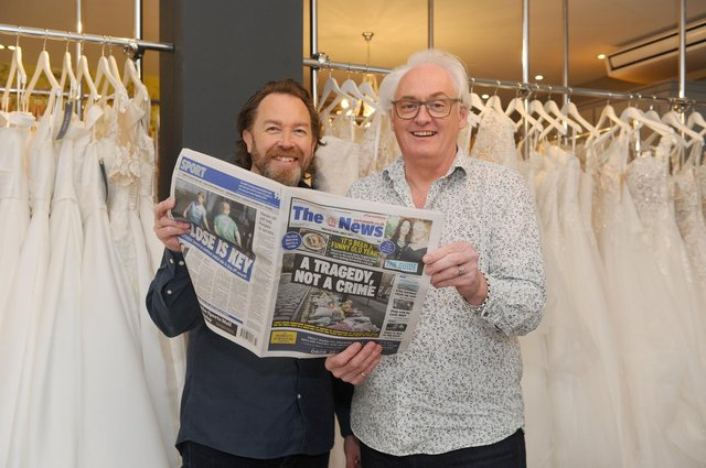 Andrew and Robert Pearce, owners of Creatiques Bridal Boutique in Albert Road, Southsea. Picture: Sarah Standing