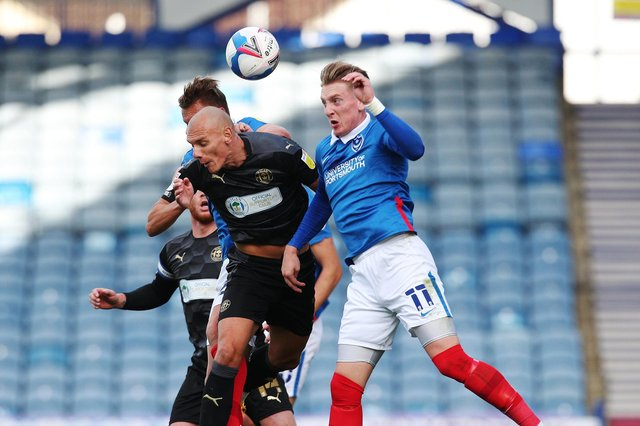 Pompey lost 2-1 to Wigan in their Fratton Park encounter in September. Picture: Joe Pepler