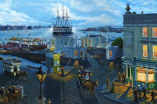 Local artist Neil Marshall has produced yet another marvellous Portsmouth Harbour image, this time from Gosport.