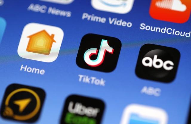 TikTok app. Picture: Justin Sullivan/Getty Images