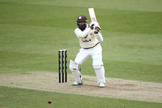Hashim Amla scored just 37 in a six hour and 17 minute stay at the crease against Hampshire. Photo by Jordan Mansfield/Getty Images.