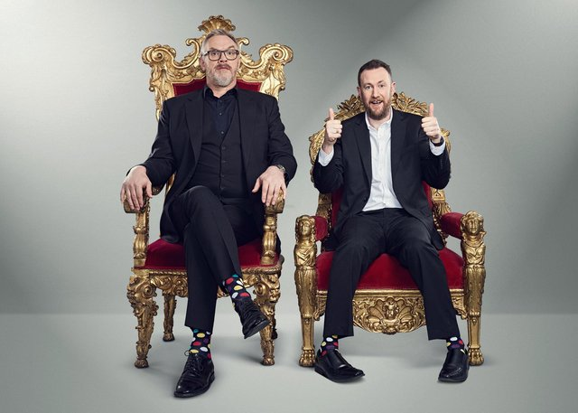 Taskmaster presenters, Alex Horne and Greg Davies, are back for the latest series of the comedy game show.