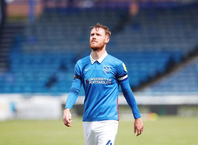 Skipper Tom Naylor is among those Pompey players asked to take a pay reduction to remain at Fratton Park. Picture: Joe Pepler