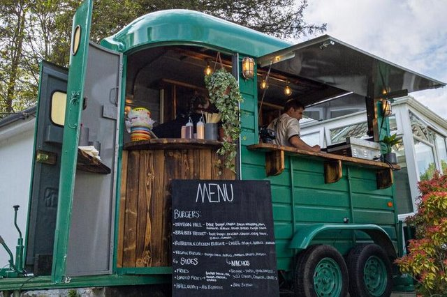 The new converted horse box offering catered food for events. Picture: The Railway Inn