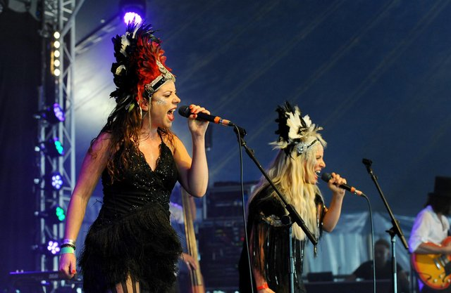 The Electric Swing Circus at Wickham Festival, 2018. They are playing on the Beats & Swing stage at Victorious Festival 2021. Picture: Sarah Standing (180618-3456)