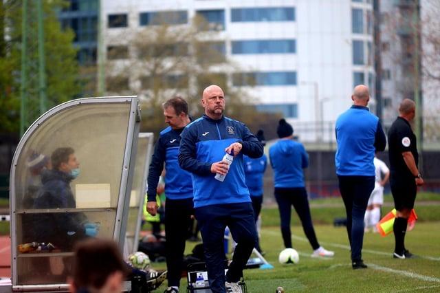 US Portsmouth boss Glenn Turnbull during Saturday's FA Vase semi-final. Picture: Tom Phillips