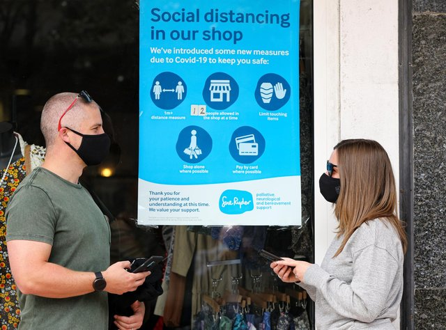 Masks will no longer be mandatory from July 19. Mask wearers in Palmerston Rd, Southsea Picture: Chris Moorhouse (jpns 030721-23)