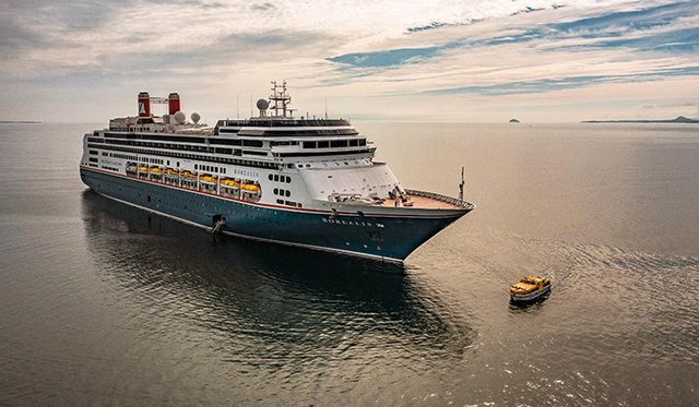 MS Borealis will embark on in its maiden voyage from Liverpool today, as part of a tour that will see it visit Portsmouth several times over the summer. Picture: Fred. Olsen Cruise Lines