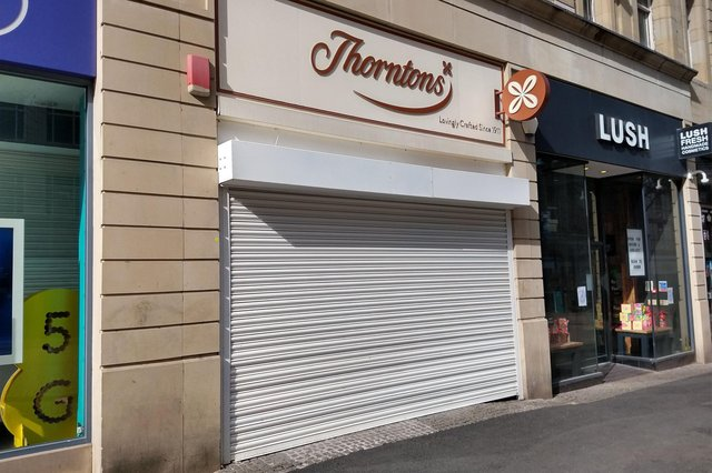 Confectionary giant Thorntons has announced it will not be reopening any of its stores after lockdown.   Picture: Chris Etchells