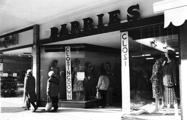 Barries in Palmerston Road in February 1991