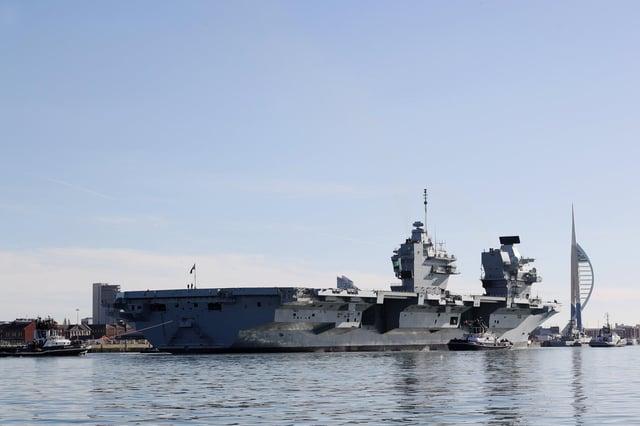 HMS Queen Elizabeth. Picture: LPhot Kyle Heller/ Royal Navy