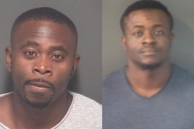 Festus Emosivwe and Charles Onwu were ordered to pay back cash from their fraud. Picture: Hampshire police