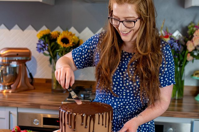 Jane Dunn decorating one of her delicious cakes. Picture: Jane's Patisserie