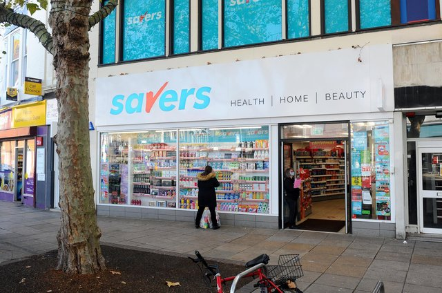Savers in Commerical Road, Portsmouth. Picture: Sarah Standing (051120-7666)